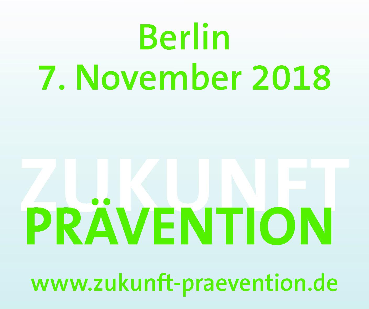 Grafik Save the date Zukunft Prävention